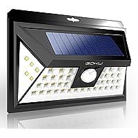 センサーライト GOKU ソーラーライト 48LED人感センサー 屋外照明 防犯LEDライト 三つ点灯モードIP65防水 2200mAh 18650電池内蔵 270°広角 太陽光発電 夜間自動点灯 玄関 駐車場 ガーデン1 個(最新版)
