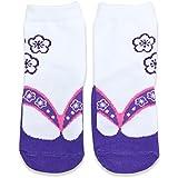 ベビー キッズ 子供用 足袋 草履風 靴下 ソックス 女の子 紫色 9-15cm 40953806PU9-15