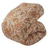 東京西川 羽毛布団 シングル フレンチシルバーダック90% 日本製 やわらか生地 抗菌防臭 ベージュ KA06003010P