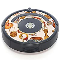 iRobot ルンバ Roomba 専用スキンシール ステッカー 527 530 537 560 577 620 621 622 630 650 対応 ユニーク 民族 イラスト 模様 008786