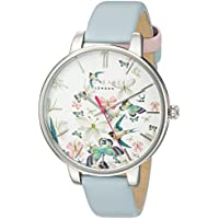 Ted Baker Women's 'KATE' Quartz Stainless Steel and Leather Dress Watch, Color:Blue (Model: 10031551)