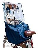 My Pallas(マイパラス) 自転車チャイルドシート用レインカバー 無地ツートン 後ろ用 リア用 IK-001 ブルー