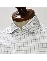 BARBA【バルバ】ドレスシャツ IBRUNO 210102 cotton  TATTERSALL CHECK GRAY×BLUE(コットン タッタソールチェック グレー×ブルー)