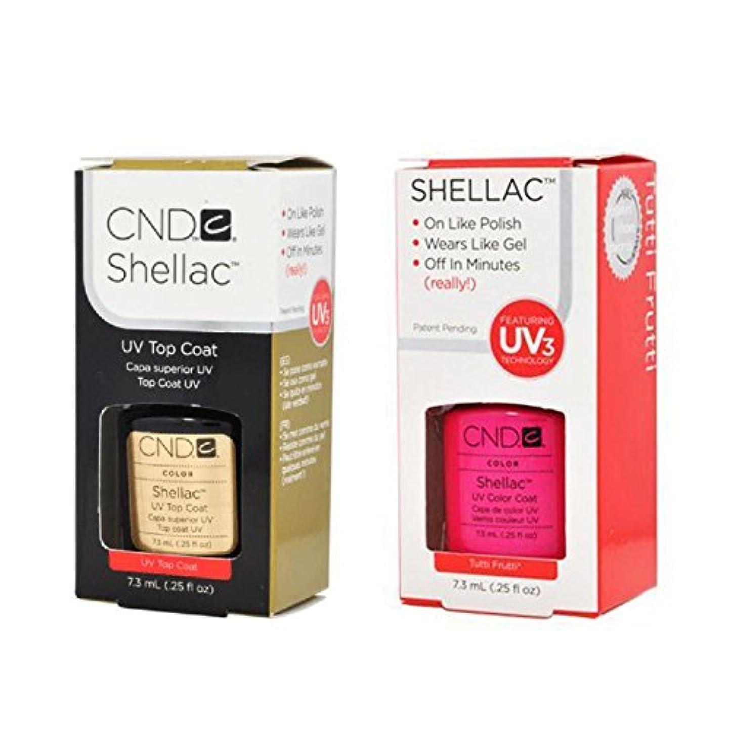 カニライフルパークCND Shellac UVトップコート 7.3m l  &  UV カラーコー< Tutti Frutti> 7.3ml [海外直送品]