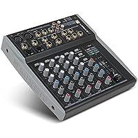Xtuga MX8 8Channels 3バンドEQオーディオミュージックミキサーUSB XLR LINE入力ミキサーコンソールDJミキサーDJステージカラオケ用48Vファンタム電源 (MX8)