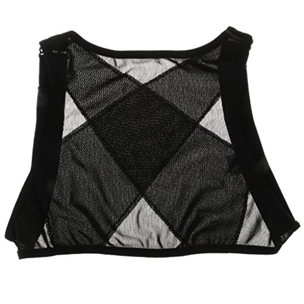 敬の念再生的従者Dovewill ネット糸 ランニング 背中サポーター 矯正ベルト 姿勢改善 ベスト 2サイズ選べる - M