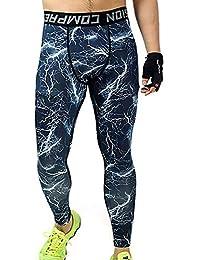 スポーツタイツ メンズ オールシーズン コンプレッションウェア パワーストレッチ アンダーウェア ロングパンツ ランニングウエア レギンス 吸汗 速乾 カムフラージュ Hongli