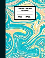 """Cornell Notes Notebook: Large College Ruled Note Taking System for School and University 