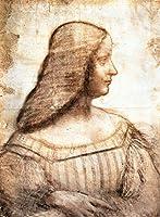 絵画風 壁紙ポスター (はがせるシール式) レオナルド・ダ・ヴィンチ マントヴァ侯妃イザベラ・デステの肖像 1500年 ルーヴル美術館 キャラクロ K-DVC-013S2 (437mm×594mm) 建築用壁紙+耐候性塗料