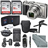 Nikon Coolpix a900デジタルカメラ(シルバー) +合計48GB SDHC +テーブル三脚+ AC/DC充電器+スペアバッテリー+ケース+手首ストラップalong with Deluxe Accessory Bundle