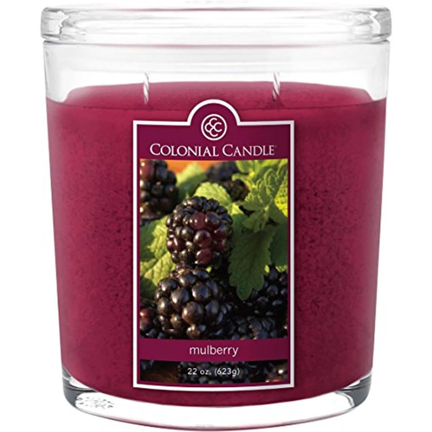 排泄する簡単に国内のColonial Candle Mulberry 22 oz Scented Oval Jar Candle by Colonial Candle