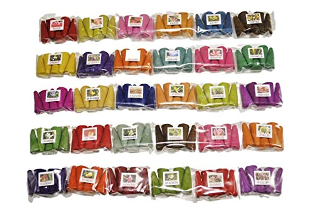 ペストリー付ける精神医学タイのお香セット お香 30種 各5個入 150個 コーン香 三角香 コーン インセンス ミニパック タイのお香 THAI INCENSE (2)