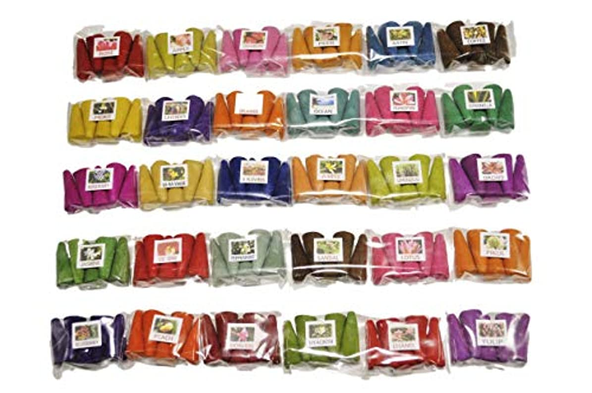 ワイドファンブル変わるタイのお香セット お香 30種 各5個入 150個 コーン香 三角香 コーン インセンス ミニパック タイのお香 THAI INCENSE (2)