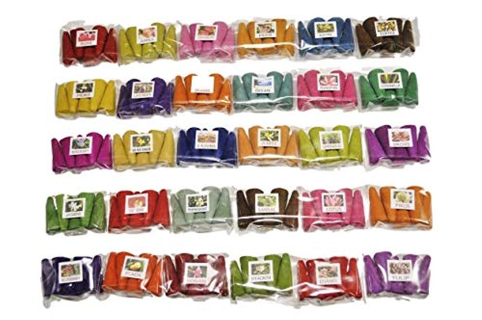 ブランデーくるみ墓タイのお香セット お香 30種 各5個入 150個 コーン香 三角香 コーン インセンス ミニパック タイのお香 THAI INCENSE (2)