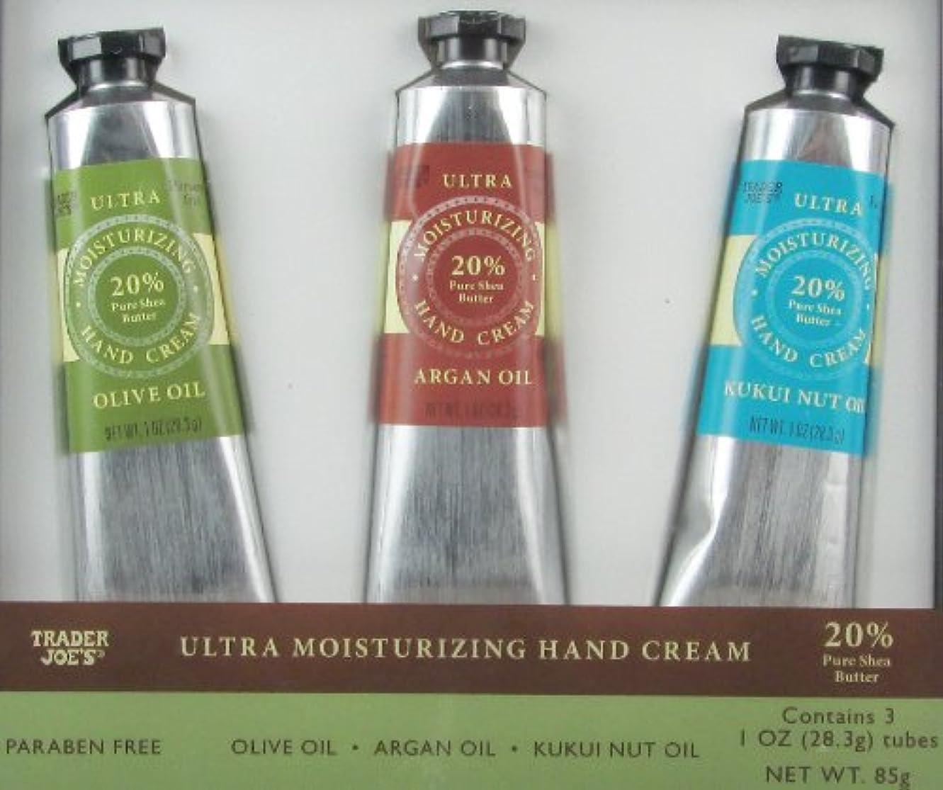 禁じるやりがいのあるアダルトトレーダージョーズ ウルトラ モイスチャライジング ハンドクリーム 3種類 ギフトセット Trader Joe's Moisturizing Hand Cream Trio Olive Oil, Argan Oil, Kukui...