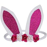 Domybest ヘアバンド ベビー ヘアアクセサリ ウサギの耳 女の子 かわいい 髪飾り 写真道具 出産祝い 旅行 パーティー 花