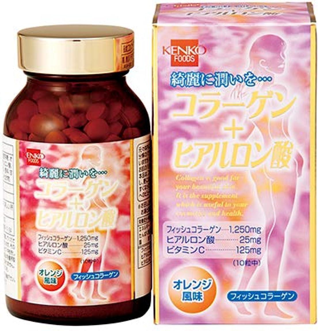 ホームレス悪魔抜け目のないコラーゲン+ヒアルロン酸【3本セット】健康フーズ