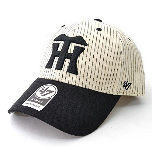 (47ブランド) 47BRAND Tigers Pinstripe Homerun Two Tone '47 MVP Black 阪神タイガース アジャスタブル プロ野球帽子 キャップ マジックテープ ブラック 47brand [並行輸入品]
