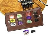 (M's dice)エムズダイス ギター ピック ケース ホルダー 12枚 収納 選べる4カラー (04、ダークブラウン)