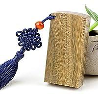 檀木印鑑 袋付き はんこ 手彫り仕上げ 個人印鑑 入学 入籍用 就職ギフト祝い プレゼント (緑檀木印)