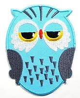 【ノーブランド品】アイロンワッペン ワッペン キュート・ハート 刺繍ワッペン フクロウ ふくろう アイロンで貼れるワッペン