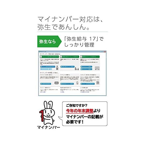 【旧商品】弥生給与 17 通常版 <マイナンバ...の紹介画像2