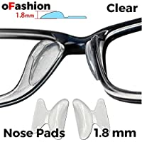 Nose Pads Anti-slip Stick on Silicone For Glasses Spectacles Eyeglass Sunglass, 1 Pair 1.8 mm Thick