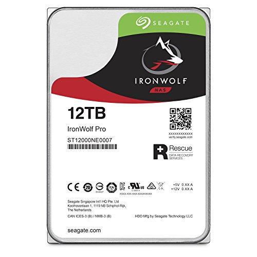 Seagate 内蔵ハードディスク 3.5インチ 12TB IronWolf Pro データ復旧付き NAS ( ヘリウム / SATA / 5年保証 ) 正規代理店品 ST12000NE0007