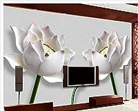 Wapel 3 次元の壁の壁画家の装飾の 3 つの次元のレリーフロータステレビ背景の壁写真壁画壁紙 絹の布 350x250CM