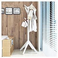 NZNB コートラックソリッドウッドクリエイティブハンガー床寝室ハンガーシンプルモダンシンプルハンギング服ラック - コートハンガー (色 : C)