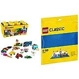 レゴ (LEGO) クラシック 黄色のアイデアボックス プラス 10696 & クラシック 基礎板(ブルー) 10714