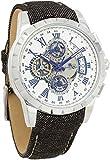 [サルバトーレマーラ]Salvatore Marra 腕時計 クロノグラフ デニムベルト レザー 革ベルト 自動巻き風 スケルトン風 メンズ レディース SM13119D-SSWHBLBL [並行輸入品]
