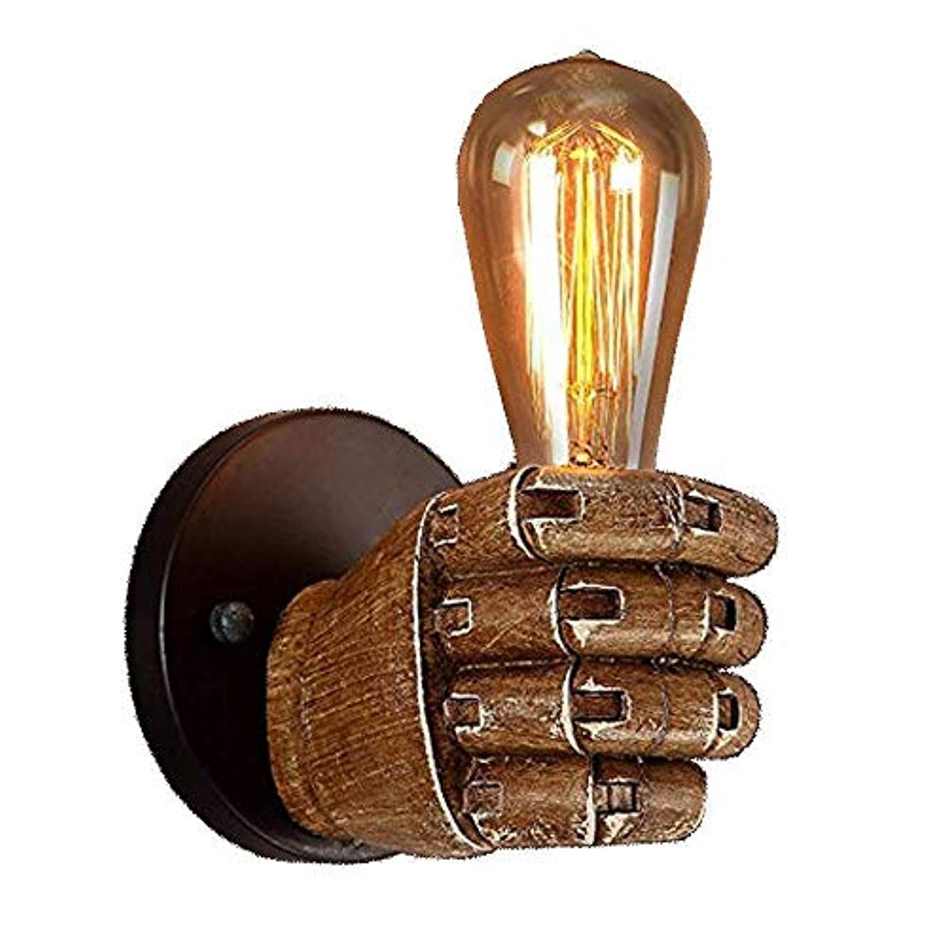 ガラガラ同意するレポートを書くJJSFJH ヴィンテージ拳樹脂壁ランプ、バー?クラブレストラン?カフェ装飾のためのロフトアンティークインダストリアルスタイルウォールライトE27電球ライト、ヴィンテージ工業用壁取り付け用燭台照明器具