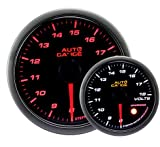 AUTOGAUGE(オートゲージ) 日本製モーター 52mm 電圧計 2色バックライト ワーニング付 シンプルファンクション 430シリーズ