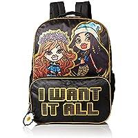 "Bratz Bratz I Want It All Front Zipper Pocket Girls Black 16"" Backpack"