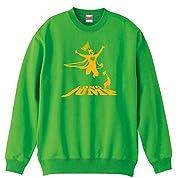 (リクティ) RikuT アメコミ風 走り幅跳び トレーナー 裏パイル