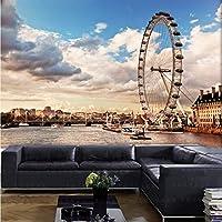 Wxmca 写真の壁紙ロンドン3D大きな壁画リビングルームの寝室のソファーテレビの背景壁紙レストランラウンジバー壁画-120X100Cm