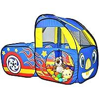 子供の遊びのテントトンネル赤ちゃん遊び家屋内遊園公園プラスチックおもちゃの部屋の車 (Color : Blue, Size : 70 * 141 * 120cm)