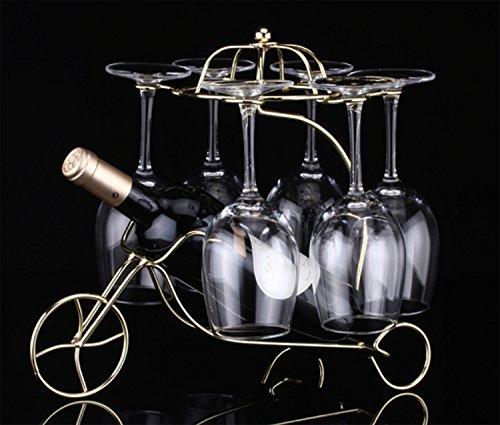 MODE des MONDE アンティーク 調 ワインボトル ワイン グラス ホルダー スタンド グラスハンガー 自転車 (...