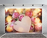 lfeey 5x 91センチ写真背景Happy母の日暖かいピンクカーネーションブーケハート型ローズ母用紙愛ビニール写真バックドロップGirls大人Portraits Photo Studio小道具