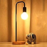 照明デザイナー芸術家のアイアンアイランプLOFTソリッドウッドレトロ文献寝室のベッドサイドランプ