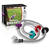 Slackers Ninja 8' with Foot Holds Outdoor Play Game Ninja Climbing Rope
