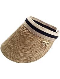 XueXian(TM)サンバイザー 広円バイザー レディース UVカット つば広 麦わら帽子 日よけハット