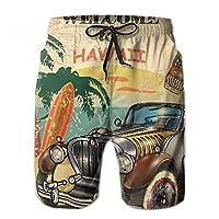 水着 メンズ ハワイ に いらしゃて 短パン 海水パンツ ハーフパンツ サーフパンツ ビーチパンツ ショーツ オシャレ 速乾通気 水陸両用