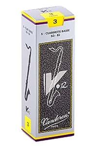 バンドーレン バスクラリネットリード V.12 硬さ:3 (5枚入り)