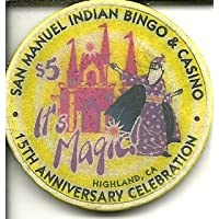 $ 5 San Manuel Indian Bingoカジノ15th Anniversary Highland CaliforniaカジノチップObsolete