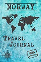 Norway Travel Journal: Notebook 120 Pages lined 6x9 Vacation Trip Planner Travel Diary Farewell Gift Holiday Planner