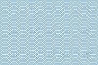 Vinilikoカーペットヘキサゴン、ビニール、青、133 x 200 x 3 cm