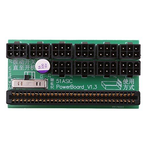 Fenteer 電源 ブレークアウトボード ビットコイン マイニング用 6ピン アダプタ HP 1200W/750W 全2種選択 - 同じ側