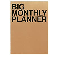 Jstory Big Monthly Personal Planner 14 Sheets Brown [並行輸入品]